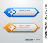 banners template with arabesque ... | Shutterstock .eps vector #282442340