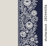 lace ribbon floral vertical... | Shutterstock .eps vector #282444356