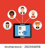 jobs concept design  vector... | Shutterstock .eps vector #282446858