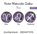 set of watercolor emblems with... | Shutterstock .eps vector #282447194