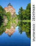 kriebstein castle  german  burg ... | Shutterstock . vector #282454664