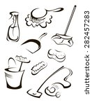 items for cleaning | Shutterstock .eps vector #282457283