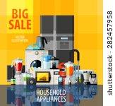 household appliances vector... | Shutterstock .eps vector #282457958