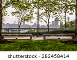 park sitting area landscape... | Shutterstock . vector #282458414