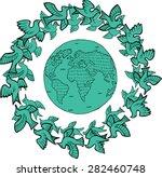 vector planet and birds | Shutterstock .eps vector #282460748