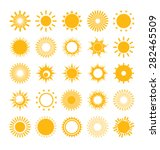 set of suns. | Shutterstock .eps vector #282465509