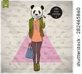poster in hipster style. hand... | Shutterstock .eps vector #282465860