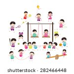 sport for kids healthy lifestyle | Shutterstock .eps vector #282466448