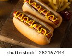 Barbecue Grilled Hot Dog With...