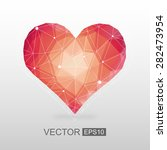 polygonal vector heart | Shutterstock .eps vector #282473954