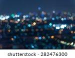 blurred photo bokeh of cityscape | Shutterstock . vector #282476300