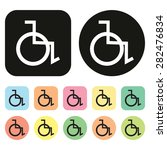 disabled handicap icon.... | Shutterstock .eps vector #282476834