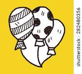 doodle balloon | Shutterstock .eps vector #282480356