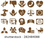 medical icon set. style  icons... | Shutterstock .eps vector #282484088