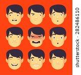 head business asian man... | Shutterstock .eps vector #282486110