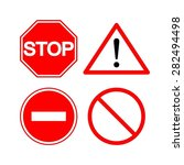 stop sign. warning. warning.... | Shutterstock .eps vector #282494498