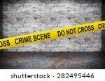Crime Scene Yellow Tape On...