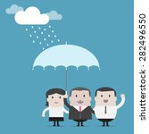 happy businessman  ...   Shutterstock .eps vector #282496550