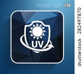 icon  label or sticker anti uv ... | Shutterstock .eps vector #282497870