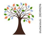 decorative tree silhouette | Shutterstock . vector #282498296
