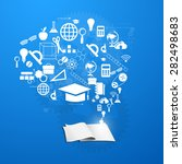 the concept of education ...   Shutterstock . vector #282498683