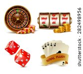 casino design elements with... | Shutterstock .eps vector #282498956