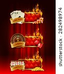 casino banners set with cards ... | Shutterstock .eps vector #282498974