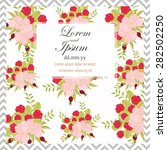invitation card with floral... | Shutterstock .eps vector #282502250