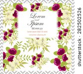 invitation card with floral... | Shutterstock .eps vector #282502526
