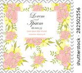 invitation card with floral... | Shutterstock .eps vector #282502556