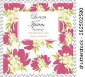 invitation card with floral... | Shutterstock .eps vector #282502580