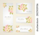 invitation card with floral... | Shutterstock .eps vector #282503936