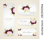 invitation card with floral... | Shutterstock .eps vector #282503966