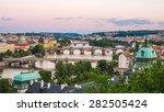 evening view of prague  view of ... | Shutterstock . vector #282505424