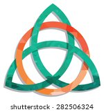 celtic knot with a circle and a ... | Shutterstock .eps vector #282506324