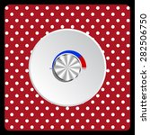 white polka dots on a red metal ...