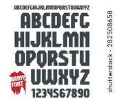 sanserif geometric font and... | Shutterstock .eps vector #282508658