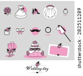 wedding day | Shutterstock .eps vector #282511289