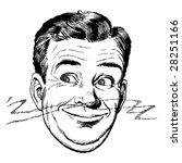 vintage 1950s man smelling...   Shutterstock .eps vector #28251166