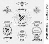 handmade badges logos and... | Shutterstock .eps vector #282513140