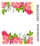 abstract flower background with ... | Shutterstock . vector #282515948