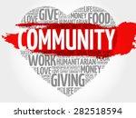community word cloud  heart... | Shutterstock .eps vector #282518594