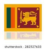 reflection flag sri lanka  | Shutterstock .eps vector #282527633