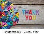 "the colorful words ""thank you""... 