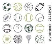 set of sports balls | Shutterstock .eps vector #282539264