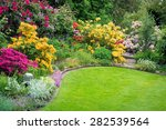 beautiful garden in spring | Shutterstock . vector #282539564