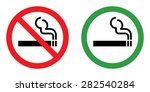 no smoking and smoking area | Shutterstock .eps vector #282540284