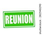 Reunion White Stamp Text On...