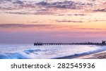 Sunset And Waves At Balboa Pier ...