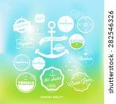 set of vintage nautical labels... | Shutterstock .eps vector #282546326